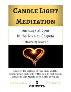 Candle Light Meditation at Chipeta