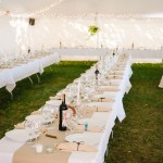 Event tent for a destination wedding in colorado